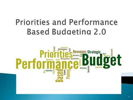 1.  2011-2013 Biennial Budget was first step 2  Lessons learned ◦ Good start ◦ Too detailed ◦ Lacked overarching structure ◦ Need to refine  AB 248.