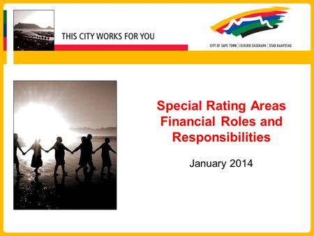 Special Rating Areas Financial Roles and Responsibilities January 2014.