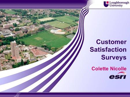 Customer Satisfaction Surveys Colette Nicolle. 2 Overview  Overall response rate and suggestions  Process of analysis and reporting  Investigating.