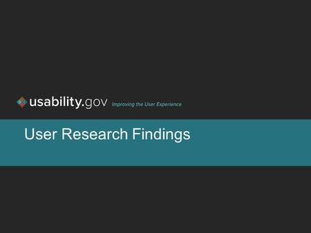 User Research Findings. 1 Overview Background Methodology Results User profiles [or personas] Next steps.