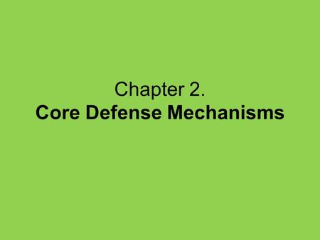Chapter 2. Core Defense Mechanisms. Fundamental security problem All user input is untrusted.