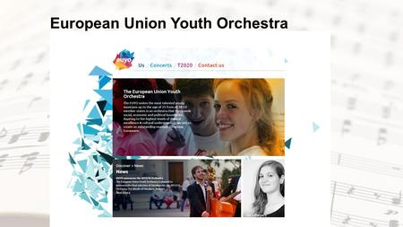 European Union Youth Orchestra. Summer Concerts 2015.