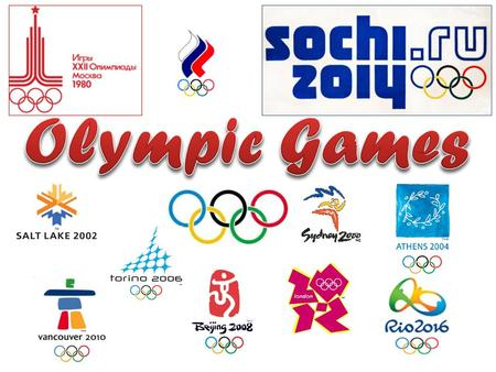 Olympic Games are the leading international sporting event featuring summer and winter sports competitions. The Olympic Games are considered the world's.