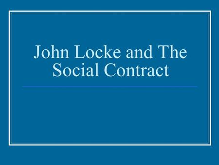 the criticism of social contract theories