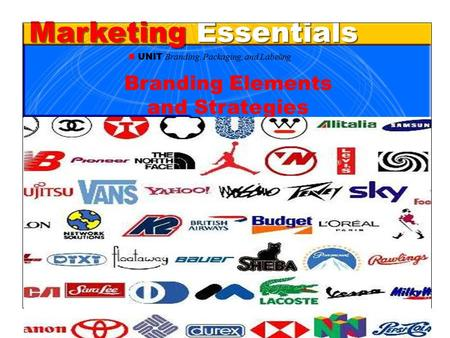 Chapter 31 Branding, Packaging, and Labeling1 Marketing Essentials UNIT Branding, Packaging, and Labeling Branding Elements and Strategies.