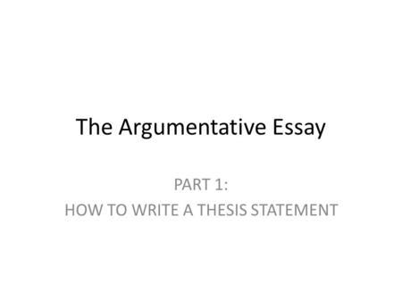 how to write a argumentative essay  nabmvdailyforumnet slide essay maps ask you to predict where your reader will expect background information counterargument close analysis of a primary source