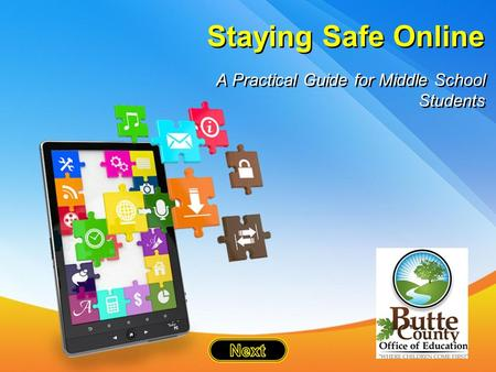 Staying Safe Online A Practical Guide for Middle School Students.