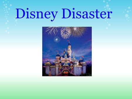 Disney Disaster. As our tale begins, we find our adventurers putting their stuff in bins. All four are in their teens and wearing their cut up jeans.