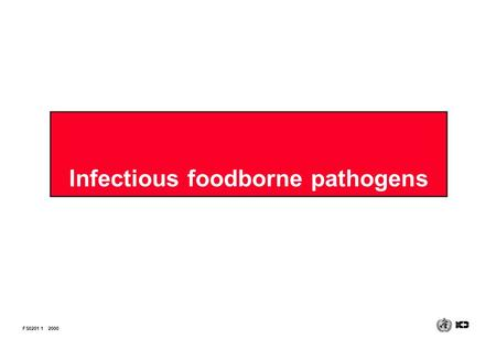 Infectious foodborne pathogens FS0201 12000. Infectious foodborne bacteria INFECTION Invasion of and multiplication within the body by ‹ Salmonella ‹