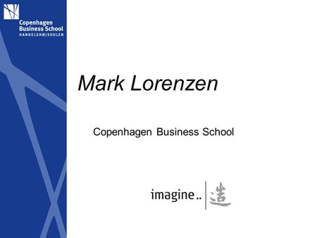 Mark Lorenzen Copenhagen Business School. Copyright-based industries constitute 11% of Danish firms and employment, 16% of turnover, 17% of value creation.