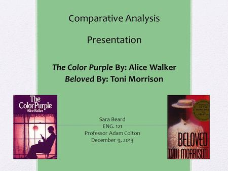 essays on feminism in the color purple As a revered feminist and author alice walker touched the lives of a generation of women through her iconic book the color purple but one woman didn't buy in to alice's beliefs - her daughter.