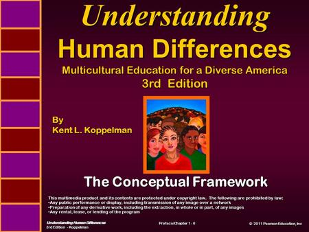 © 2011 Pearson Education, Inc © 2011 Pearson Education, Inc Understanding Human Differences 3rd Edition - Koppelman Preface/Chapter 1 - 0 Understanding.