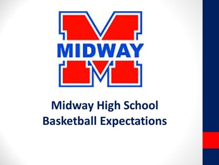 Midway High School Basketball Expectations. Panther Basketball DO's… Align Your individual Goals with TEAM GOALS Be a good teammate; encourage each other.