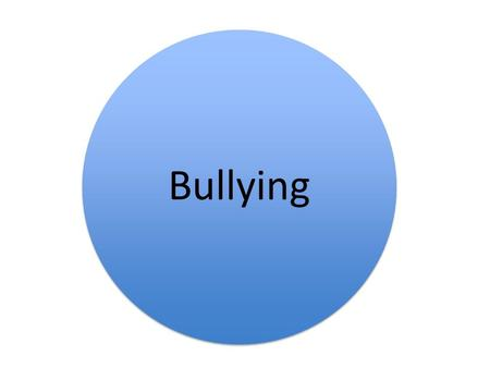 Bullying. Definition of Bullying # repeated occurrences, # on purpose, # intended to harm another # physically or mentally. Bullying is a problem that.