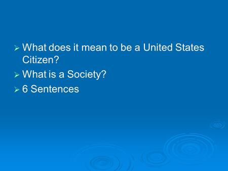 defining citizenship and the rights of a citizen And responsibilities of citizens toward each other and/ or government in its  for  citizenship rights different definitions have been presented.