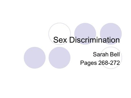 Sex Discrimination Sarah Bell Pages 268-272. Fuhr v. School District of the City of Hazel Park Did not hire woman to coach boy's varsity basketball Court.