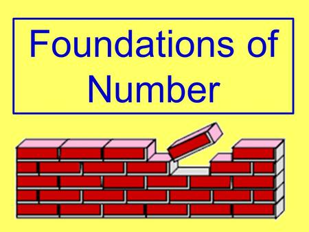 Foundations of Number.