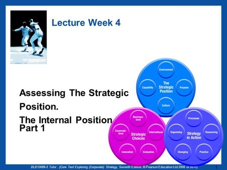 BLB10089-3 Tutor. (Core Text Exploring (Corporate) Strategy, Seventh Edition, © Pearson Education Ltd 2008 or 2011) 1 Lecture Week 4 Assessing The Strategic.