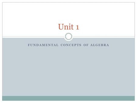 FUNDAMENTAL CONCEPTS OF ALGEBRA Unit 1. EXPONENTS AND RADICALS Lesson 1.2.