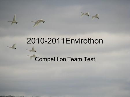 2010-2011Envirothon Competition Team Test. Wildlife - Question 1 Describe biodiversity and the importance of it.