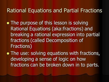 partial fractions problems and solutions pdf