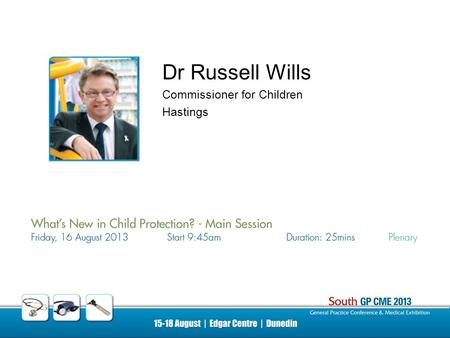 Dr Russell Wills Commissioner for Children Hastings.