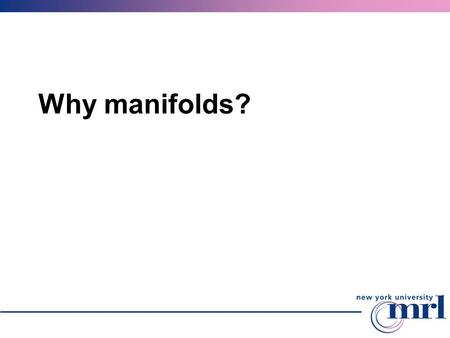 Why manifolds?. Motivation We know well how to compute with planar domains and functions many graphics and geometric modeling applications involve domains.