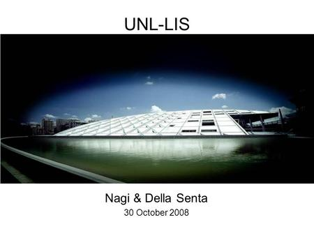 UNL-LIS Nagi & Della Senta 30 October 2008. The library held about 700,000 scrolls, arranged in storage racks.