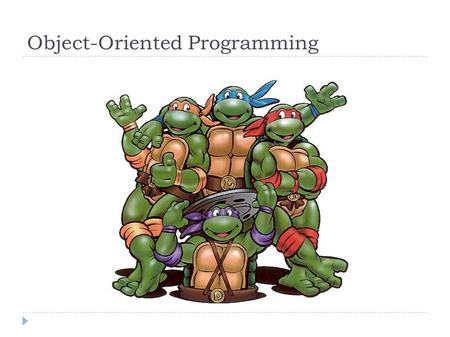 Object-Oriented Programming. Object-oriented programming  First goal: Define and describe the objects of the world  Noun-oriented  Focus on the domain.