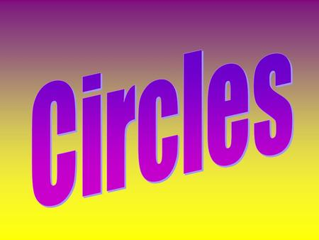 A Circle is a closed plane figure in which all the points are the same distance from the center. F Center Circle F.