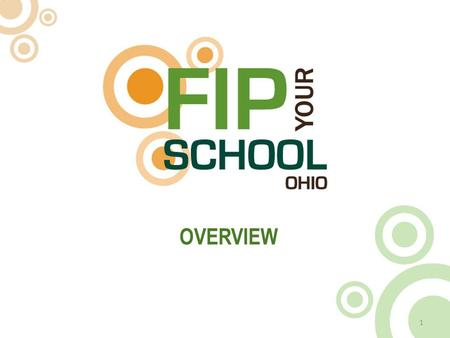 OVERVIEW 1. WHAT IS FIP YOUR SCHOOL? 2 What is a FIP School? Our goal is to make every school in Ohio a FIP School – a school committed to embracing.