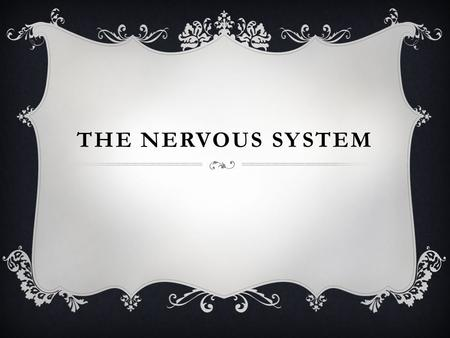 THE NERVOUS SYSTEM.  Neurons- nerve cells that run through our entire body and communicate with each other.  They consist of a cell body, dendrites,