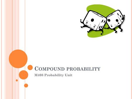 C OMPOUND PROBABILITY M408 Probability Unit. Example 1 – Pick a card from a deck. Replace the card in the deck, then pick again. What is the probability.