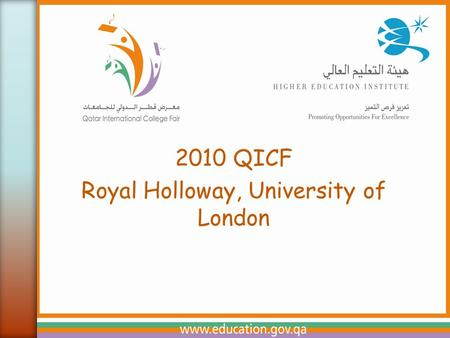 2010 QICF Royal Holloway, University of London.