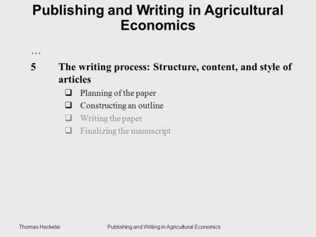 a summary of agricultural economics Agricultural & applied economics university of the agecon department strives to apply sound decision-making principles to agricultural and other natural resource.