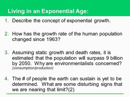 Living in an Exponential Age: