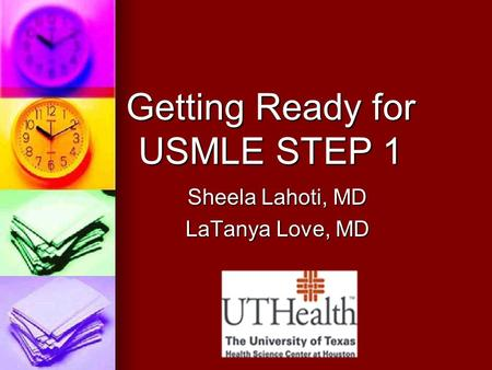 Getting Ready for USMLE STEP 1