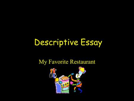 restaurant descriptive essay