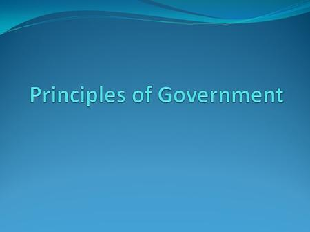 Government and the State Standard USG – 1: The student will demonstrate an understanding of foundational political theory, concepts, and application.