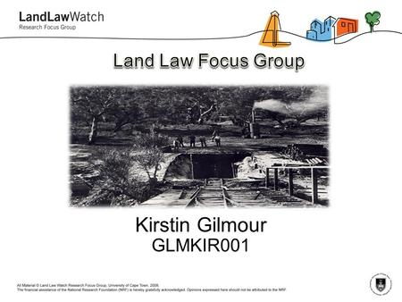 Kirstin Gilmour GLMKIR001. An exploratory inquiry into the right to mine in South Africa within the context of the international paradigm of sustainability.