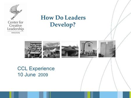 How Do Leaders Develop? CCL Experience 10 June 2009.