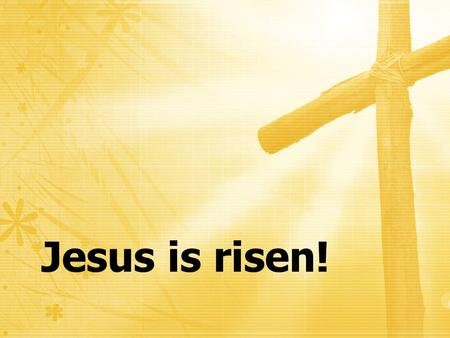 Jesus is risen!. For what I received I passed on to you as of first importance: that Christ died for our sins, that He was buried, that He was raised.