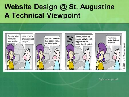 Website St. Augustine A Technical Viewpoint Deja Vu anyone?
