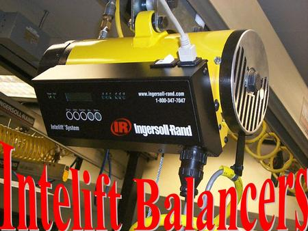 Balancer Operation Intelift Operation Installation Troubleshooting Preventive Maintenance Preventive Maintenance OVERVIEW.