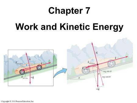 Copyright © 2010 Pearson Education, Inc. Chapter 7 Work and Kinetic Energy.