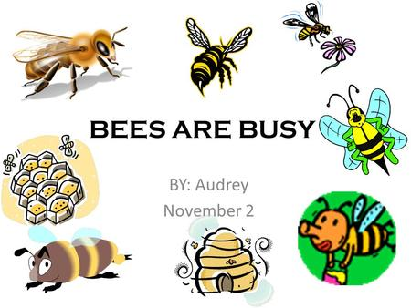 BEES ARE BUSY BY: Audrey November 2. Bees are alive! Bees are born Bees breath air Bees eat Bees grow Bees die.