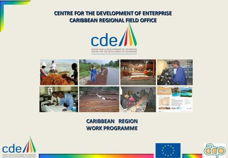 CENTRE FOR THE DEVELOPMENT OF ENTERPRISE CARIBBEAN REGIONAL FIELD OFFICE CARIBBEAN REGION WORK PROGRAMME.