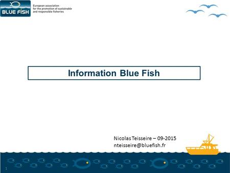 Information Blue Fish 1 Nicolas Teisseire – 09-2015