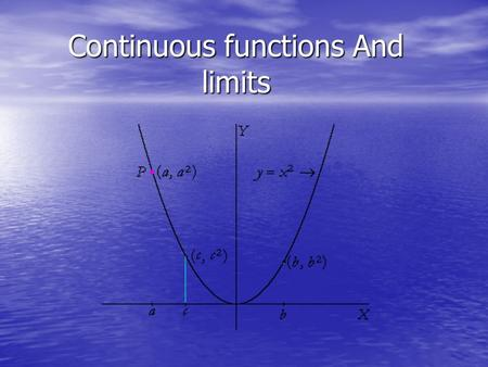 Continuous functions And limits. POP. If you have to lift your pencil to make the graph then its not continuous.