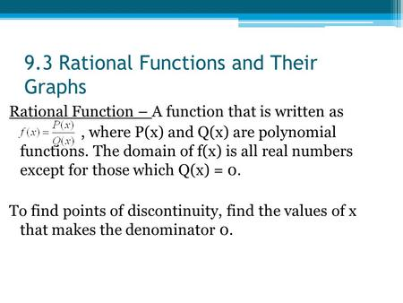 domain of rational functions pdf